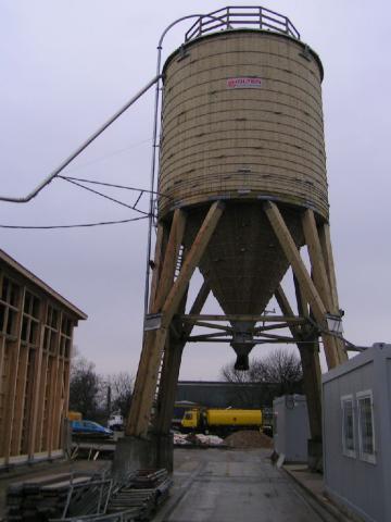 Drevená lepená konštrukcia, lepené lamelové nosníky - Soľný sklad Zlatovce