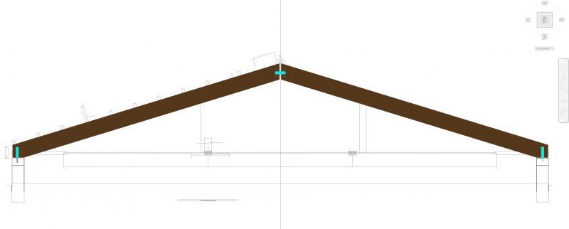 Drevená lepená konštrukcia, lepené lamelové nosníky - Jazdiareň Kolečany