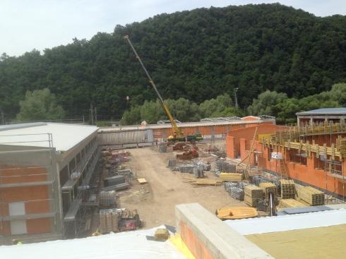 Drevená lepená konštrukcia, lepené lamelové nosníky - SSU R1 Nová Baňa