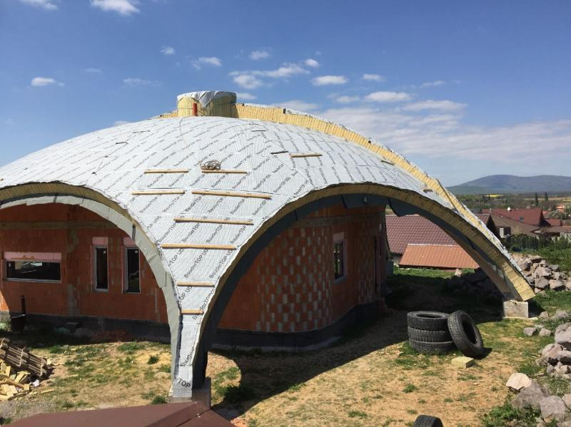 Drevená lepená konštrukcia, lepené lamelové nosníky - Rodinný dom, Zlaté Moravce