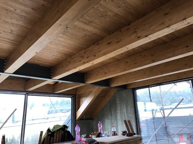 Drevená lepená konštrukcia, lepené lamelové nosníky - Galéria Ždiar