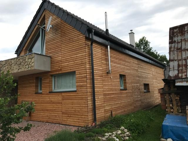 Drevená lepená konštrukcia, lepené lamelové nosníky - Rodinný dom – Or. Poruba